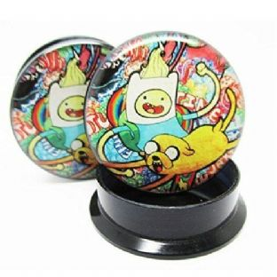 Adventure Time Graffiti Ear Plug Body Jewellery